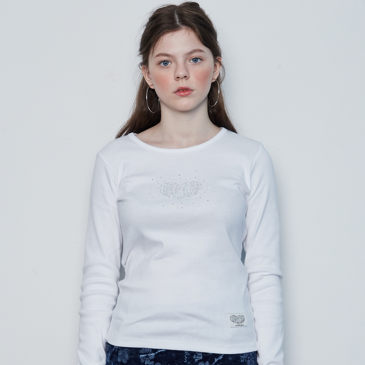 IN HOTFIX LONG SLEEVES(WHITE)